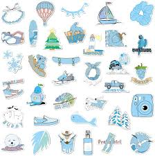 Amazon Com Cute Vsco Girl Stickers For Water Bottles 35 Pcs Hydro Flask Stickers Waterproof Vsco Stickers For Hydro Flask Perfect Hydroflask Stickers For Id Holders Books Phone Laptop Case Blue Kitchen Dining