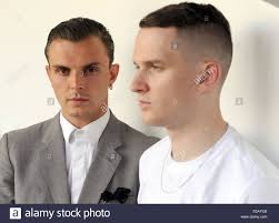 English musicians Adam Anderson (R) and Theo Hutchcraft of the ...