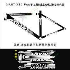 Giant Xtc Bicycle Cycling Stickers Frame Reflective Pure Hand Carving Decal Cycling Accessories Sticker Fuel Accessories Birthdayaccessories Knitting Aliexpress