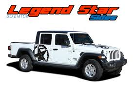 Jeep Gladiator Side Star Decals Jeep Gladiator Body Star Stripes Legend