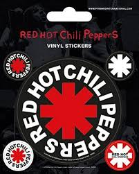 Amazon Com 1art1 Red Hot Chili Peppers Sticker Adhesive Decal Logo Vinyl Sticker Set 5 X 4 Inches Home Kitchen