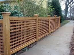 Top 70 Best Wooden Fence Ideas Exterior Backyard Designs Fence Design Lattice Fence Panels Lattice Fence