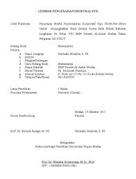 10 contoh lembar pengesahan proposal
