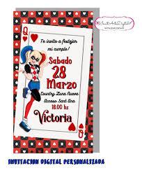 Invitacion Digital Personalizada Harley Quinn 90 00 En Mercado