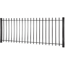 Lafayette 4 Ft H X 8 Ft W Black Steel Pressed Point Decorative Fence Panel In The Metal Fence Panels Department At Lowes Com