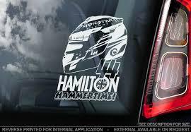 Lewis Hamilton Helmet Stickers