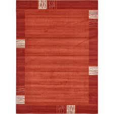unique loom del mar sarah rust red 8 0