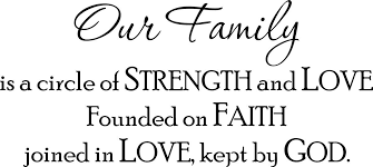 Buy Wall Decal Quote Our Family Is A Circle Of Strength And Love Founded On Faith Joined In Love Kept By God In Cheap Price On Alibaba Com