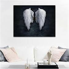 angel wings canvas print painting home
