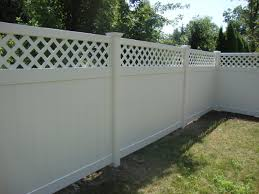 Active Home Centre 6 X 8 Pvc Privacy Fence Panel With Lattice In White
