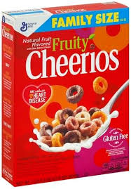 cheerios fruity family size cereal