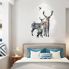 New Forest Elk Deer Family Wall Stickers Home Decoration Living Room Decal Wall Stickers Custom Vinyl Wall Decals Custom Wall Decal From Kity12 3 52 Dhgate Com