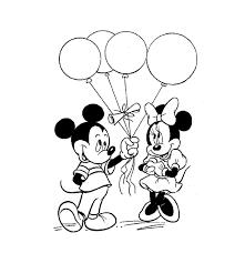 Kleuren Nu Mickey Geeft Mini Balonnen Kleurplaten
