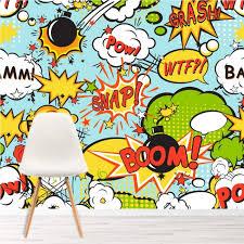 Boom Pow Retro Comic Strip Wallpaper Wall Mural