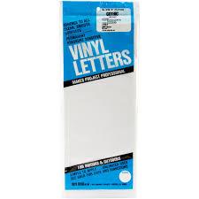 Duro D3220 Wht Permanent Adhesive Vinyl Letters 6 Inch White Walmart Com Walmart Com