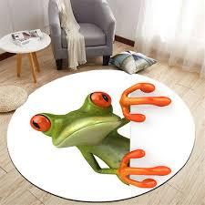 Round Floor Mat Big Eye Frog Model Design Bedroom Carpet Living Room Area Rugs Ebay