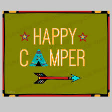 Amazon Com Happy Camper Camping Print Camping Decor Summer Camp Print Cute Kid Art Nature Outdoorsy Decor Tee Pee Tent Art Kids Camp Print Hiking Print Handmade