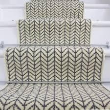 cream light design stair carpet