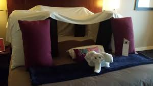Asked hotel to build pillow fort upon check-in. Hotel delivers ...