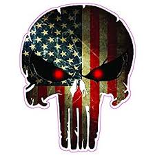 Amazon Com Nostalgia Decals Super Store Punisher With American Flag Decal Truck Back Window Size 18 Automotive