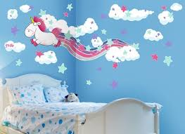 Fluffy The Unicorn Rainbow Wall Decal