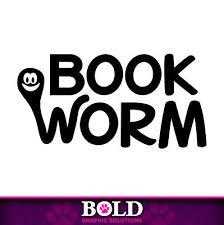 Book Worm Decal Window Bumper Sticker Car Reading Student Books Read Library Kid Ebay