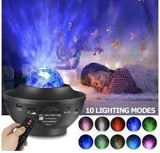 Night Light Projector Star Baby Kids Bedroom Game Room Bluetooth Music Speaker Ebay
