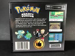 Pokemon Quartz ROM Hack Custom Case Gameboy Advance