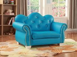 Celine Kids Loveseat Chair In Blue Pu Kids Furniture In Los Angeles