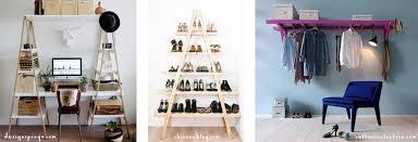 diy shoe shelf ladder makeover