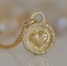 14k gold diamond necklacegold heart