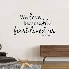 Bible Verse Wall Decals Christian Quote Pvc Wall Art Stickers Living Room Bedroom Bible Verse Wall Decal Wall Stickers Aliexpress