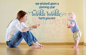 We Wished Upon A Shining Star Wall Decal Sticker Baby Quote