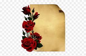 card printing paper design red roses