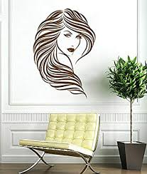 Woman Face Wall Decal Curly Hair Beautiful Girl Decals Wall Vinyl Sticker Home Interior Wall Decor