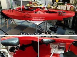 electric thruster trolling motor with