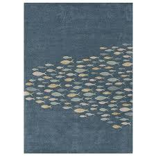 hand tufted wool and art silk rug with