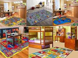 Children S 5 X 7 Area Rug Kids Carpet Non Skid Gel Backing Great Value Ebay