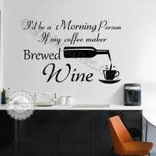 Kitchen Wall Stickers Funny Fun Wine Quotes Home Vinyl Wall Art Decor Decal Ebay