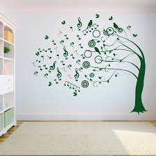 Tree Music Symbol Wall Decal Sticker Bedroom Tree Of Life Roots Birds Flying Away Home Decor Yoga Studiodecor A7 013 Wall Stickers Aliexpress