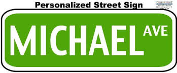 Street Sign Wall Decals Personalize Road Sign Decor