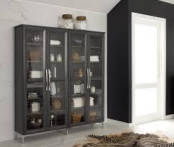 bathroom storage cabinet with glass