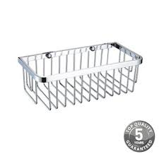 small wall fixed wire basket in chrome