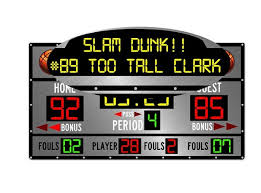 Personalized Custom Scoreboard Basketball Wall Decal Sticker Etsy