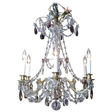 crystal chandelier oil rubbed