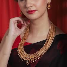 Myra Antique Long Necklace Set | Necklace designs, Long necklace, Delicate  diamond necklace