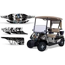 Amazon Com 1996 2010 Ezgo Golf Cart Amrracing Atv Graphics Decal Kit Mad Hatter White Black Automotive