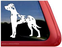 Harlequin Great Dane Decals Stickers Nickerstickers