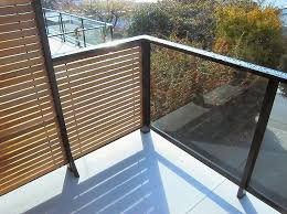 with glass railing on deck
