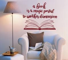 Book Quote Vinyl Wall Decal Reading Room Book Shop Art Decor Stickers Wallstickers4you